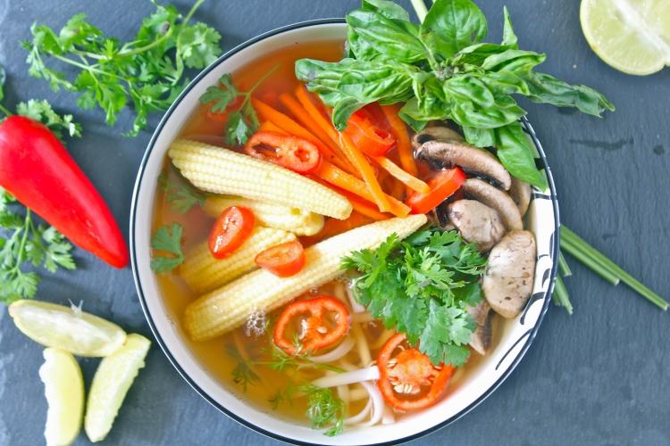 Asian Style Udon Noodle Soup